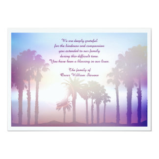 The Palms Bereavement Thank You Card
