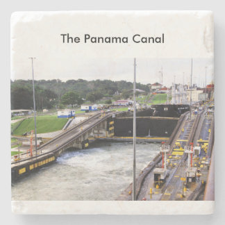 The Panama Canal, High Def Photography Stone Beverage Coaster