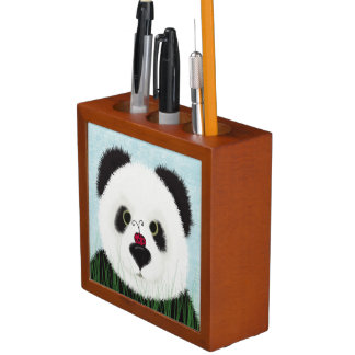 The Panda Bear And His Visitor Desk Organizer