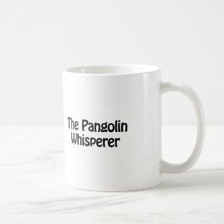 the pangolin whisperer coffee mug