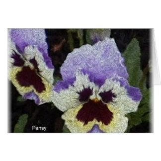 The pansies card