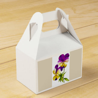 'The Pansy Party' on a Favor Box (I)