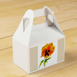 'The Pansy Party' on a Favor Box (II)