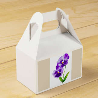 'The Pansy Party' on a Favor Box (III)