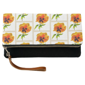 'The Pansy Party' on a Fold-over Clutch (II)