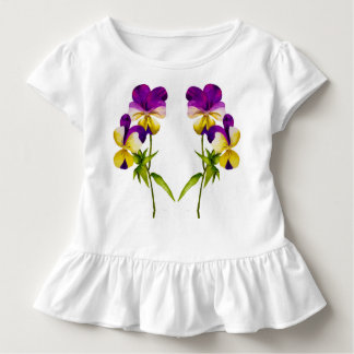 'The Pansy Party' on a Toddler Ruffle Tee (I)