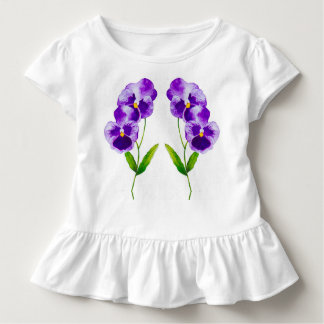 'The Pansy Party' on a Toddler Ruffle Tee (III)