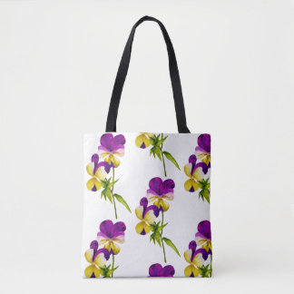 'The Pansy Party' on a Tote (I)