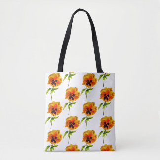 'The Pansy Party' on a Tote (II)
