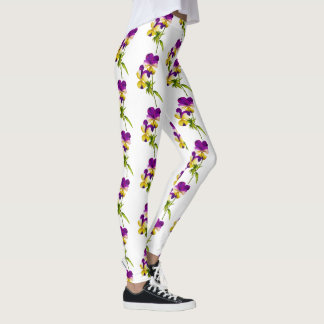 'The Pansy Party' on  Leggings