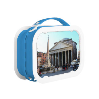 The Pantheon and its famous square in Rome, Italy Lunchbox