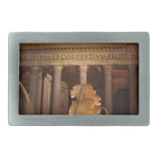 The Pantheon and the Fontana del Pantheon in Rome Belt Buckles