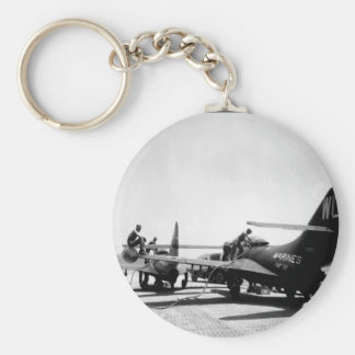 The Pantherjets are refueling _War Image Basic Round Button Keychain