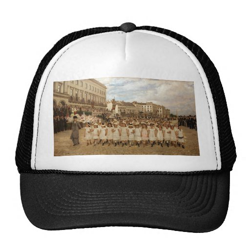 The Parade of the Schools by Jan Verhas Mesh Hats