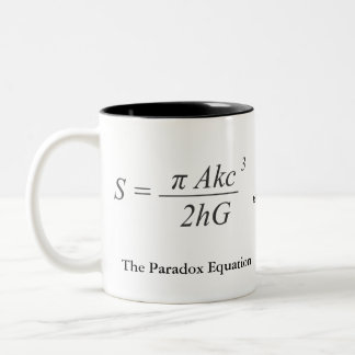 The Paradox Equation Two-Tone Coffee Mug