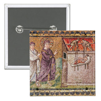 The Paralytic of Capharnaum 2 Inch Square Button
