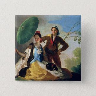 The Parasol, 1777 2 Inch Square Button