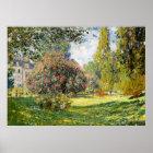 The Parc Monceau by Claude Monet Poster