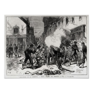 The Paris Commune: A Barricade at Issy Poster