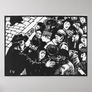 The Paris crowd, 1892 Poster