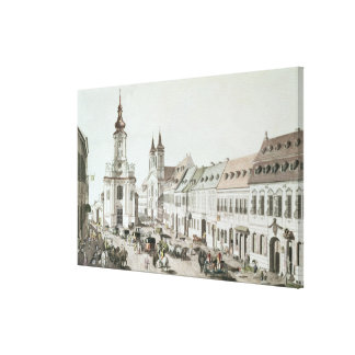 The Parish Church and Cemetery of Fauxbourg Canvas Print