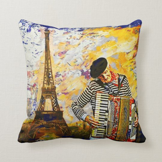 The parisian Accordionist Pillow