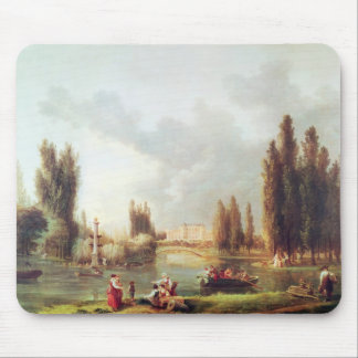 The Park and Chateau at Mereville Mouse Pad