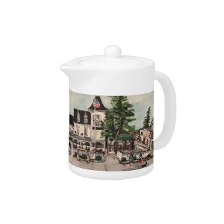 """""""The Park Hotel at Put-in Bay"""" Small Teapot"""