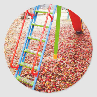 The park slide vivid color taste which takes on classic round sticker