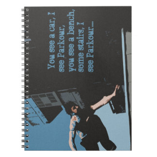 The Parkour Note Book Notebook