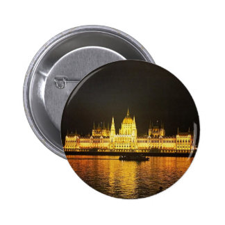 The Parlement Building Budapest 2 Inch Round Button