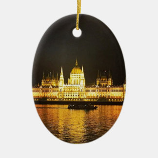 The Parlement Building Budapest Ceramic Ornament