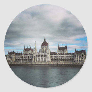 The Parlement Building Budapest, Maritha Mall Classic Round Sticker