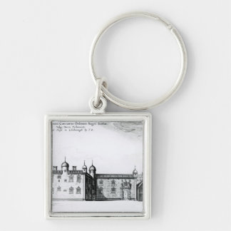 The Parliament House in Edinburgh Silver-Colored Square Keychain