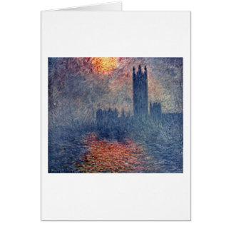 The Parliament In London By Claude Monet Card