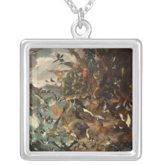 The Parliament of Birds Silver Plated Necklace