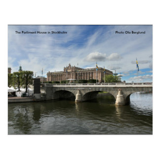 The Parliment House in Stockholm... Postcard