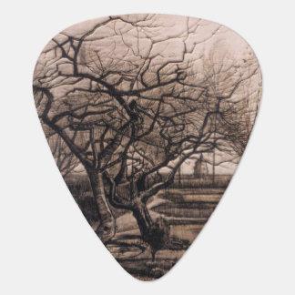 The Parsonage Garden - Nuenen in Winter - van Gogh Guitar Pick