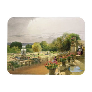 The Parterre, Harewood House near Leeds, pub. by T Rectangular Photo Magnet