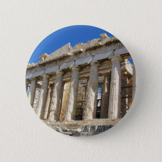 The Parthenon at Acropolis  447 BC 2 Inch Round Button