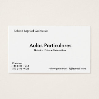 The Particular Robson Raphael Guimarães, Lessons, Business Card