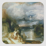 The Parting of Hero and Leander (oil on canvas) Square Sticker