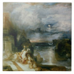 The Parting of Hero and Leander (oil on canvas) Tile