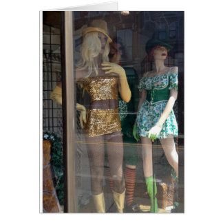 THE PARTY MANNEQUINS ARE READY TO PARTY BIRTHDAY CARD