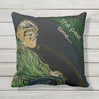 The past time.. outdoor pillow