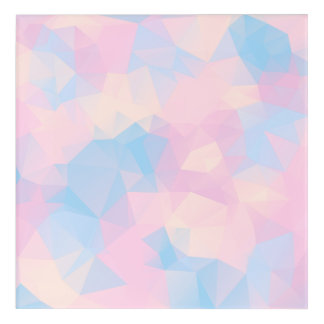 The Pastel Colours Low Poly Acrylic Print