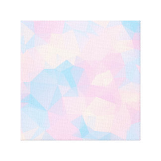 The Pastel Colours Low Poly Canvas Print