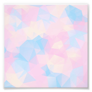 The Pastel Colours Low Poly Photo Print