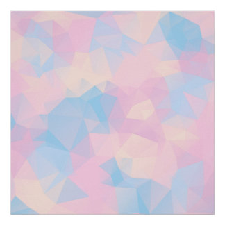 The Pastel Colours Low Poly Poster