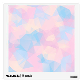The Pastel Colours Low Poly Wall Decal